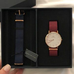 Daniel Wellington Rose Gold Watch and Bands